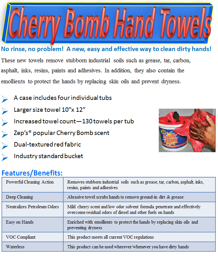 Cherry Bomb Hand Towels