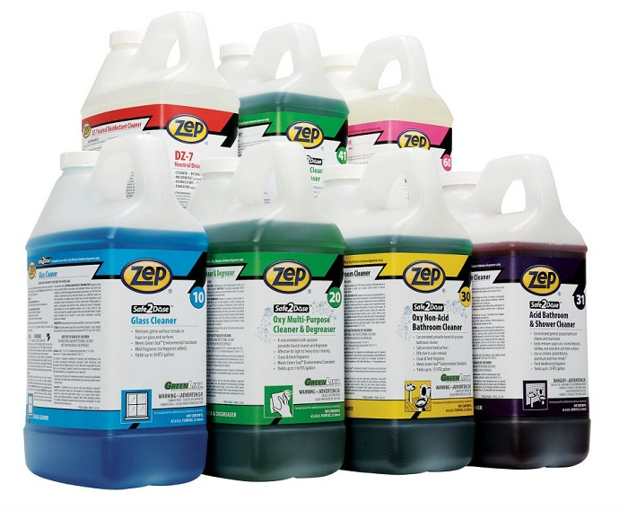 Zep Safe2dose Disinfectants Degreasers Cleaners