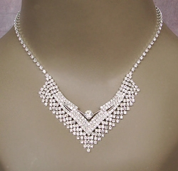 Rhinestone Necklace Sets