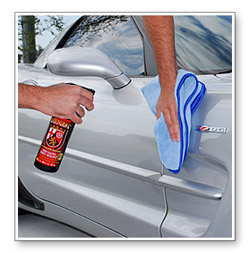Application is easy, just mist the paint with Wolfgang Deep Gloss Spritz Sealant then wipe off.