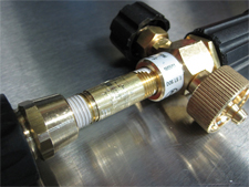 Assembled brass nipple and fitting