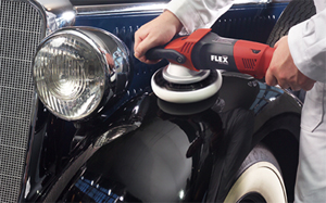Buff out existing holograms and swirls on black paint finishes with the FLEX XC3401 VRGdual action buffer!