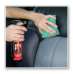 Do not over apply or allow Wolfgang Leather Care Cleaner to dry on leather.