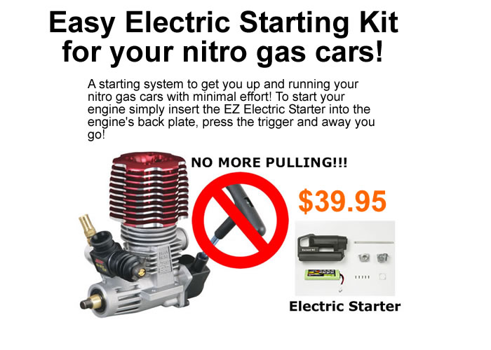 Electric Starting Kit for Nitro Gas Cars