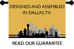 Draperies Proudly Designed and Assembled in Dallas, Texas