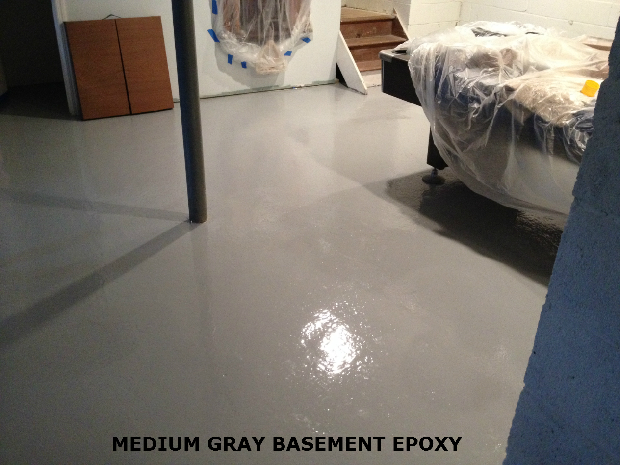 coat up to 600 sq ft of your wet or dry basement floor