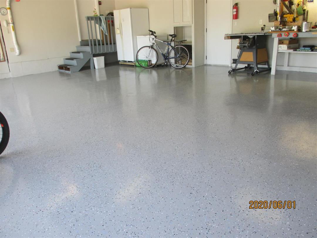 GARAGE FLOOR EPOXY AFTER