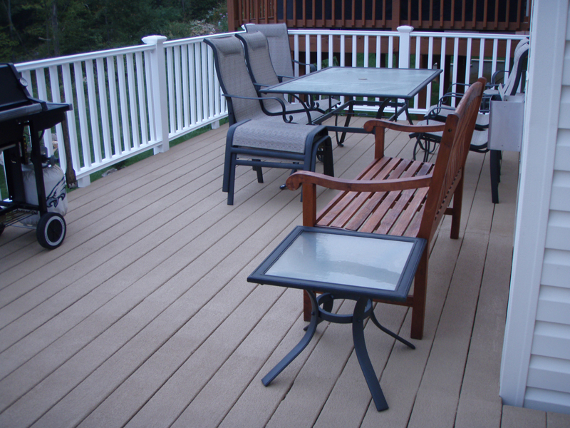 restored wood deck boards with renew it deck coating