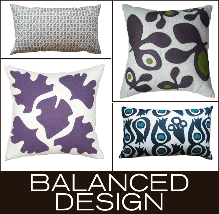 Take a look at Balanced Design - a new line of throw pillows now available at Inmod.com!