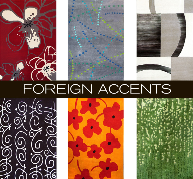 Take a look at Foreign Accents - a new line of rugs now available at Inmod.com!