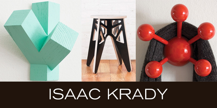 Take a look at Isaac Krady - a new line of stools and wall accessories now available at Inmod.com!