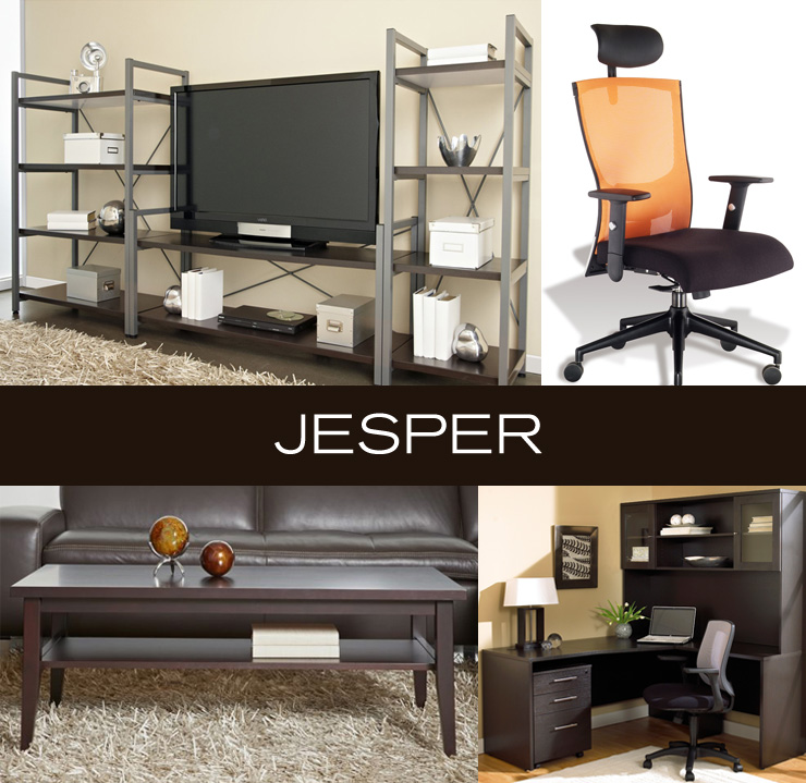 Take a look at Jesper - a new line of office, entertainment, and media furniture now available at Inmod.com!