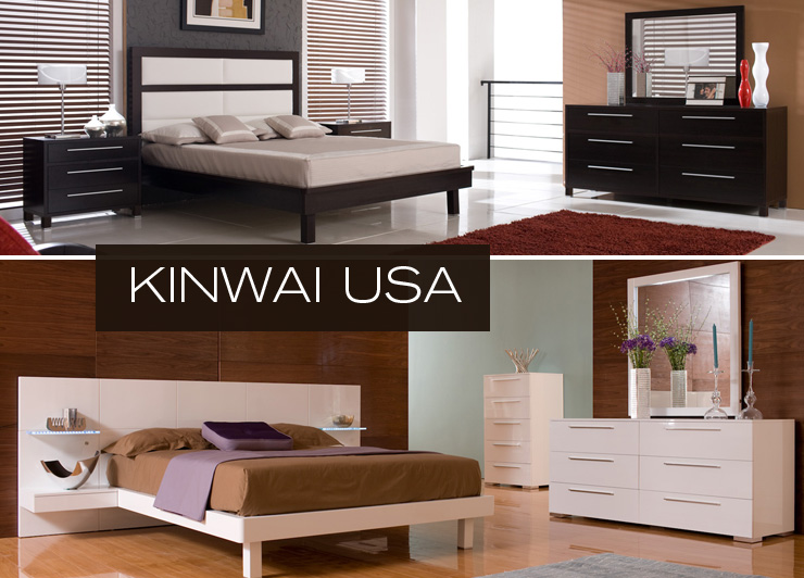 Take a look at Kinwai USA - a new line of elegant modern bedroom furniture now available at Inmod.com!