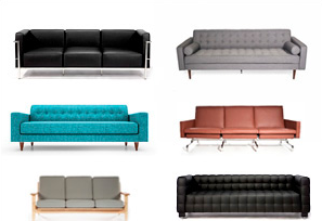 Mid-Century Sofas & Sectionals