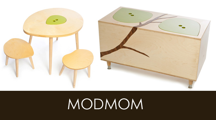 Take a look at Mod Mom Furniture - a new line of modern furniture now available at Inmod.com!