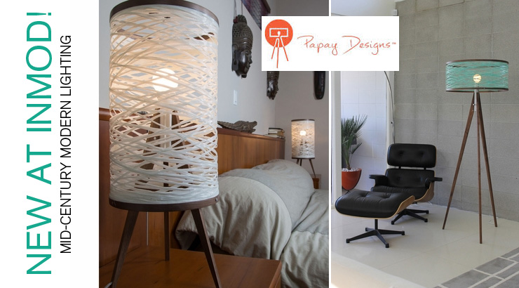 Take a look at new mid-century modern lighting by Papay Designs!