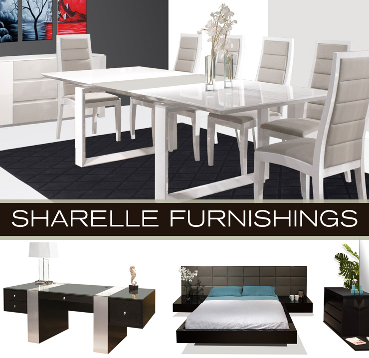 Take a look at Sharelle Furnishings - a new line of office, dining, and bedroom furniture now available at Inmod.com!