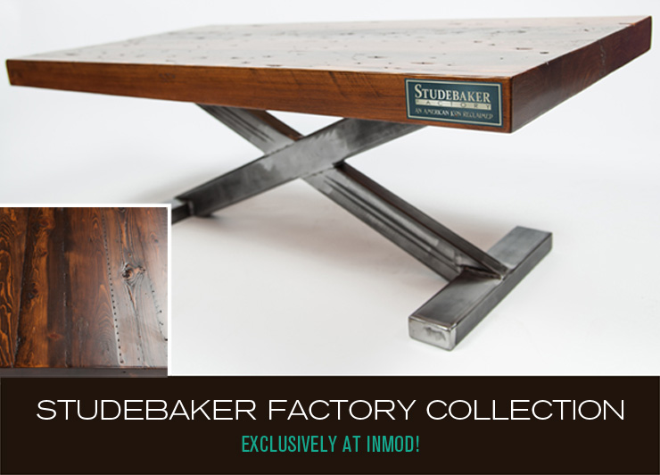 Take a look at Studebaker Factory Collection - a new line of unique, reclaimed wood furniture now available at Inmod.com!