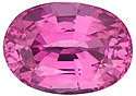 Vivid Hot Pink Loose Pink Sapphire in Oval Shape