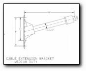Cable Extension Bracket Medium Duty