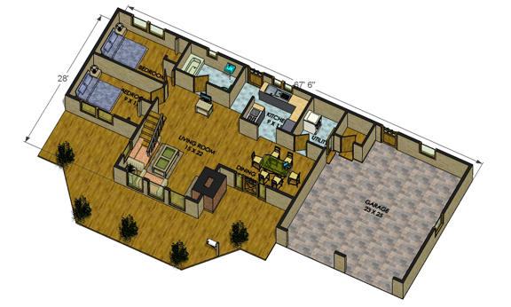 Big Delta Log Cabin Floorplans