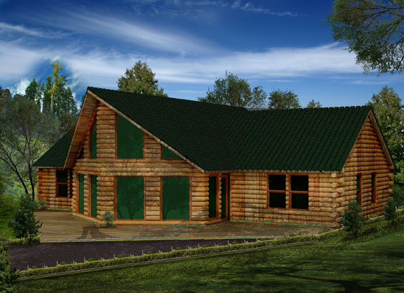 An Optional Second Floor Adds Two More Bedrooms A Bath And Storage From Its Stairs Landing Beholds The Amazing Great Room View Log Cabin Products