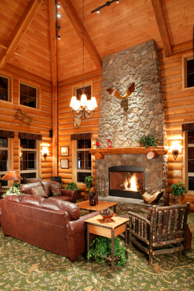 Exposed Beam Rafter System Log Cabin Kits