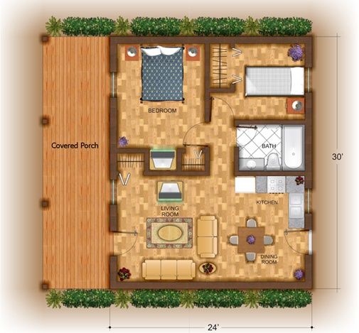 Small Log Cabin Kit Homes Small Log Cabin Floor Plans: Weekend Cabin Series