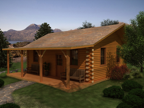 Tiny Log Home Designs: Weekend Cabin Series
