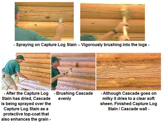What is the best way to apply stain log home stain faqs for How to stain log cabin