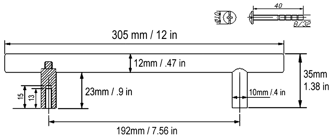 What Size Bar Pulls For Kitchen Cabinets