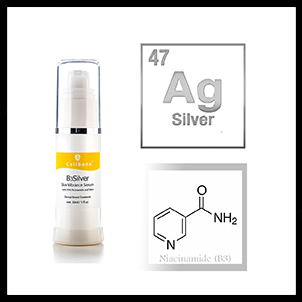 Niacinamide and silver serum