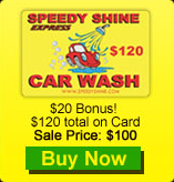 Speedy Shine Car Wash Card