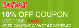 10% Off on All Bayou Classic Items