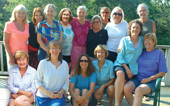 Current-day group photo of women from the Brotherhood of the Spirit/Renaissance Community
