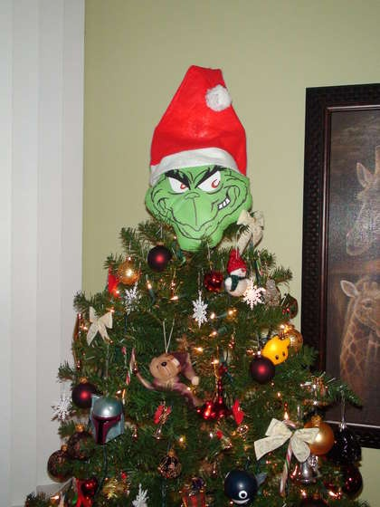 Grinch tree topper