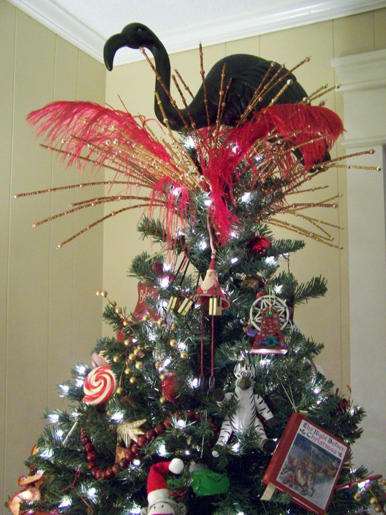 flamingo tree topper
