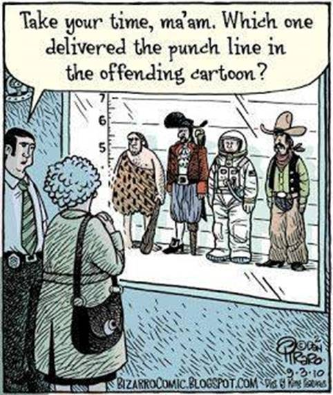 delivered punch line offending cartoon card