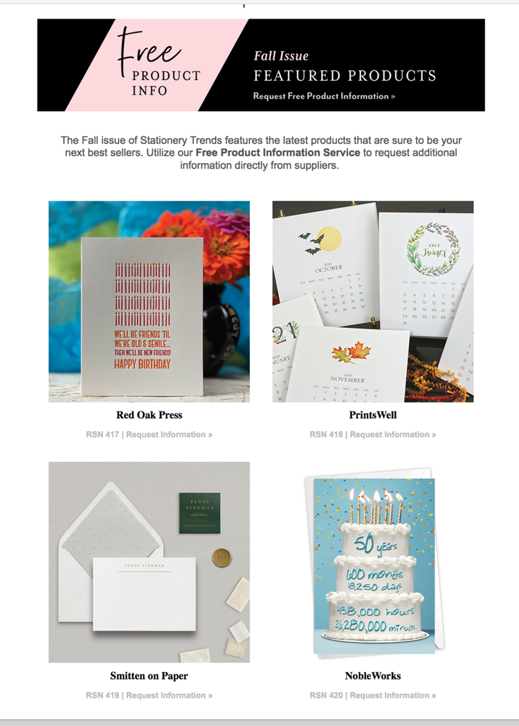 stationery trends edit fall 2020
