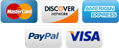 We accept: MC, DISCOVER, AmEx, PayPal, VISA