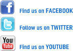 Find us on Facebook, Twitter, and YouTube